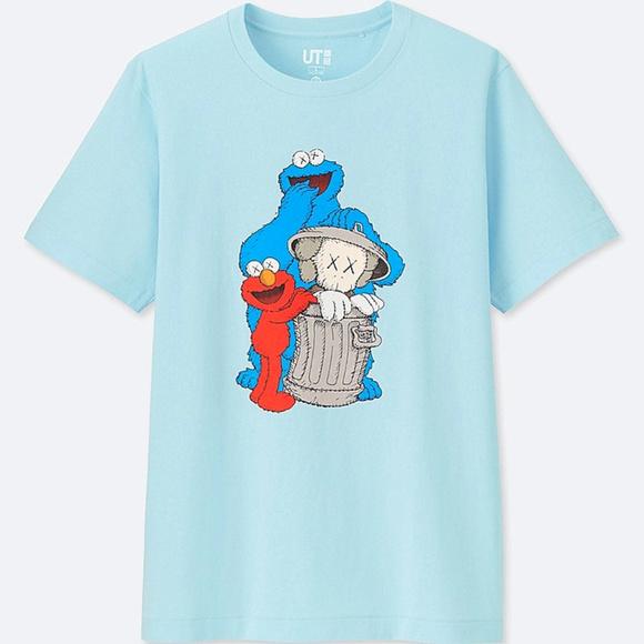 61ec09fa0 Uniqlo x KAWS Shirts | Kaws X Sesame Street Elmo Cookie Monster ...